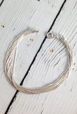 "Sterling Silver 12mm 7.5"" Spark Chain Bracelet"