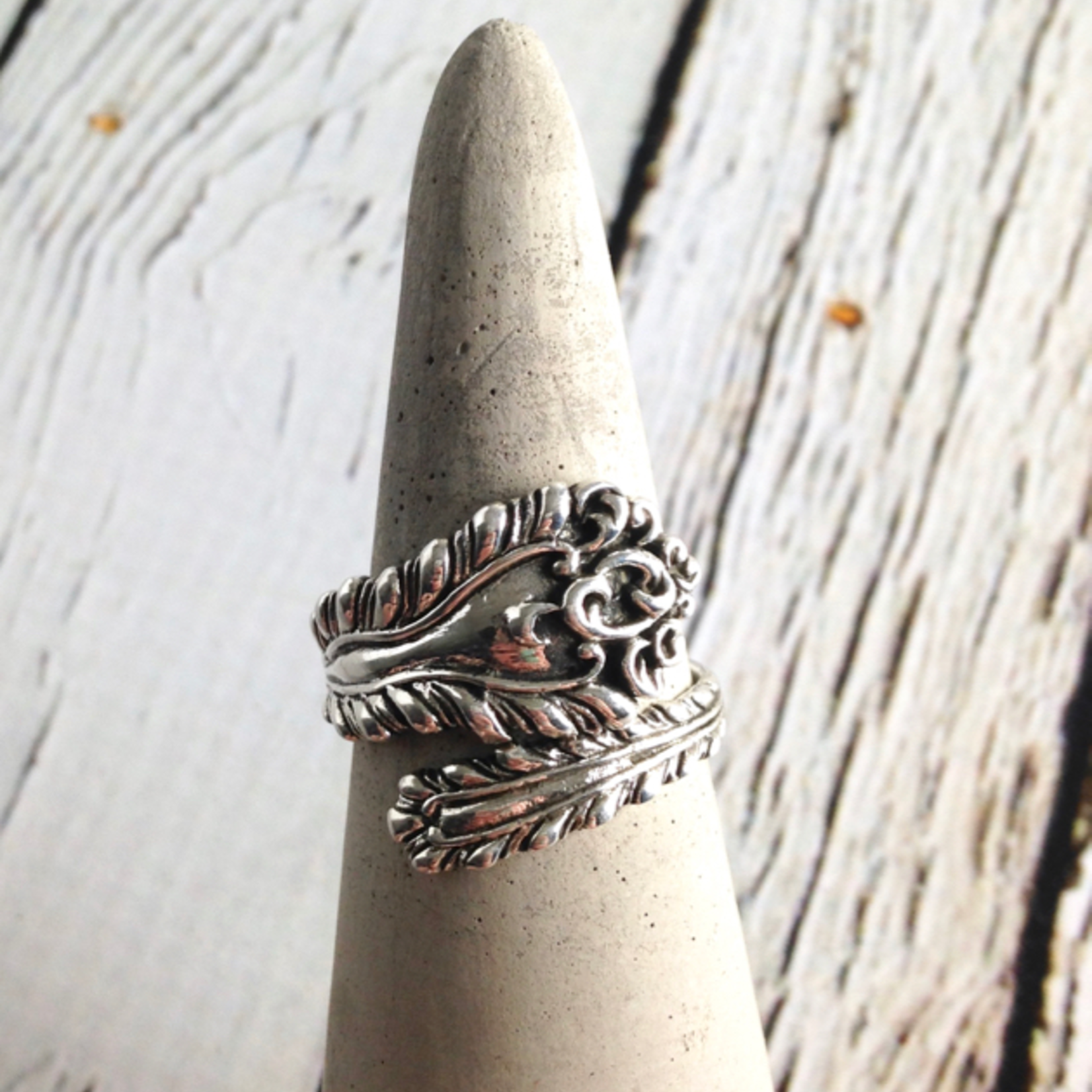 Sterling Silver Vintage Spoon Ring