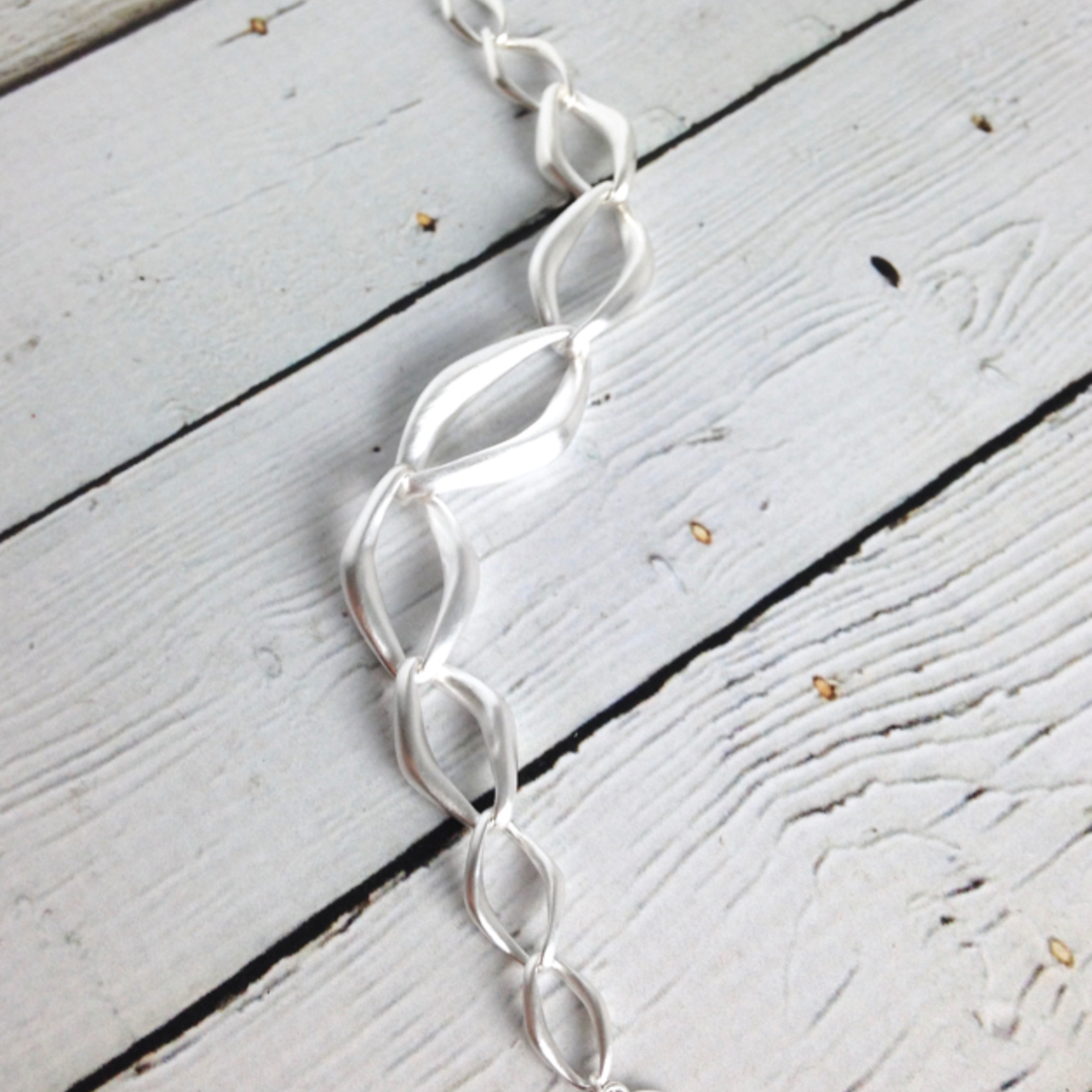 """Sterling Silver Pure Collection 7.5"""" Matte Finish Toggle Clasp Bracelet"""
