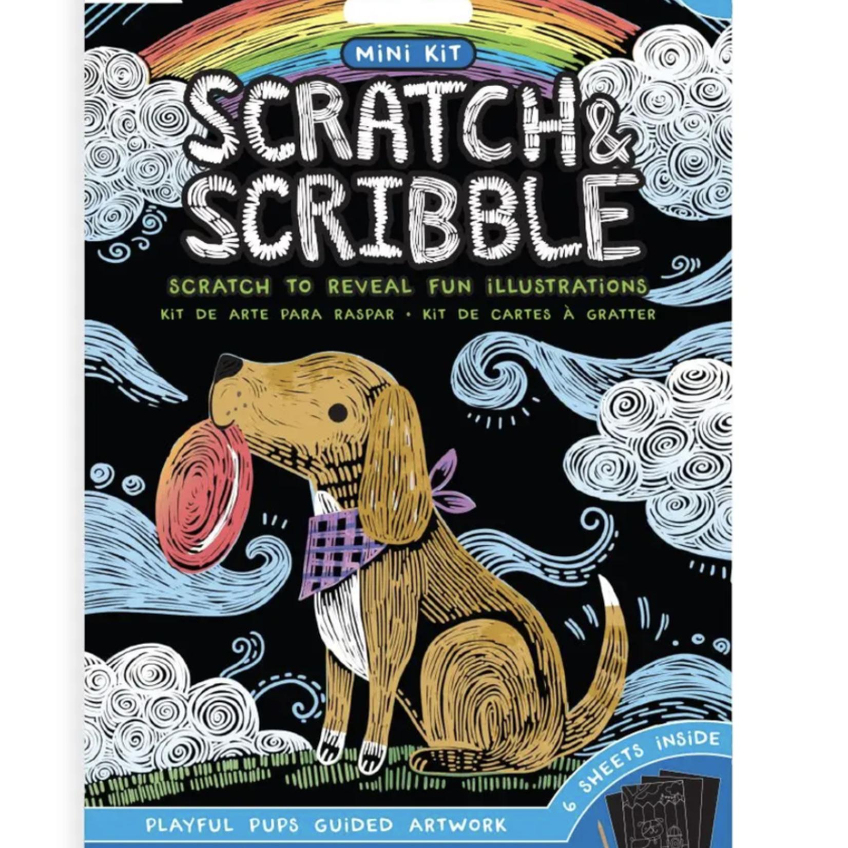Mini Scratch & Scribble Art Kit: Playful Pups