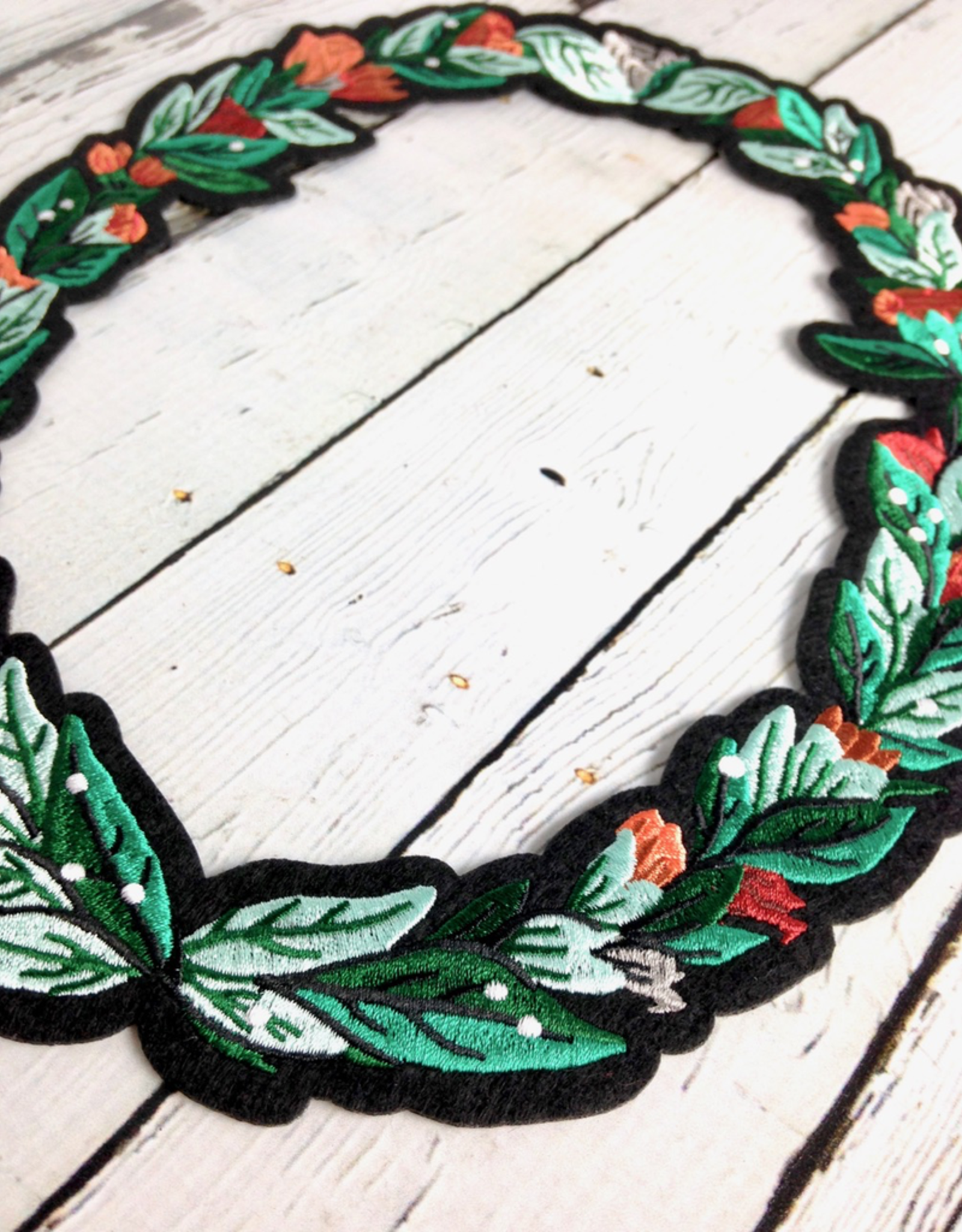 Flora Frame Iron On Patch