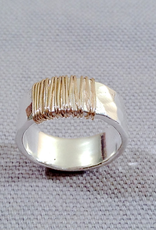 J&I Hammered Sterling Band Wrapped with Gold Filled Wire