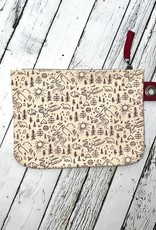 NOW Stay Wild Large Zipper Pouch