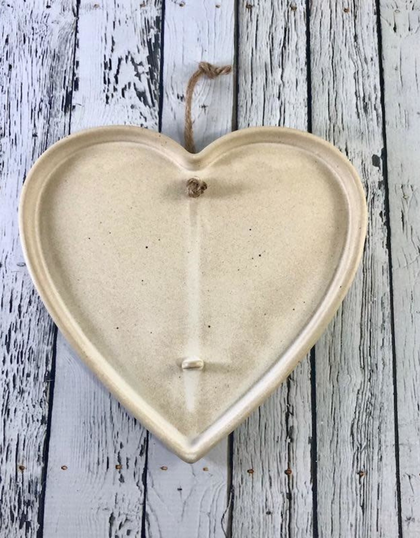 "CREATIVECOOP 8-1/4""W x 7-3/4""H Hanging Stoneware Heart Dried Flower Holder"