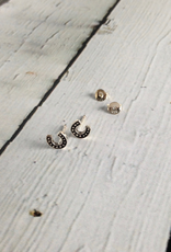 Sterling Silver Oxidized Horseshoe stud Earrings