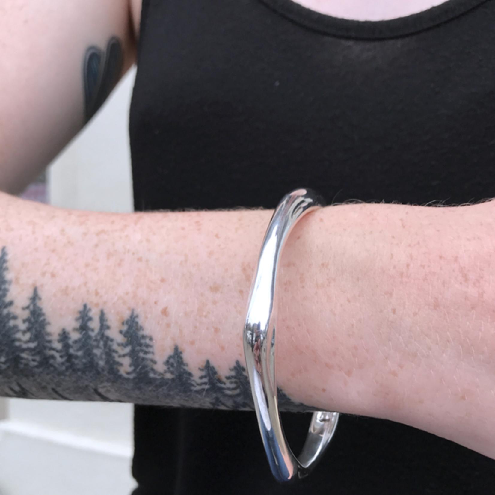 Sterling Silver 5-Point Pure Bangle Bracelet
