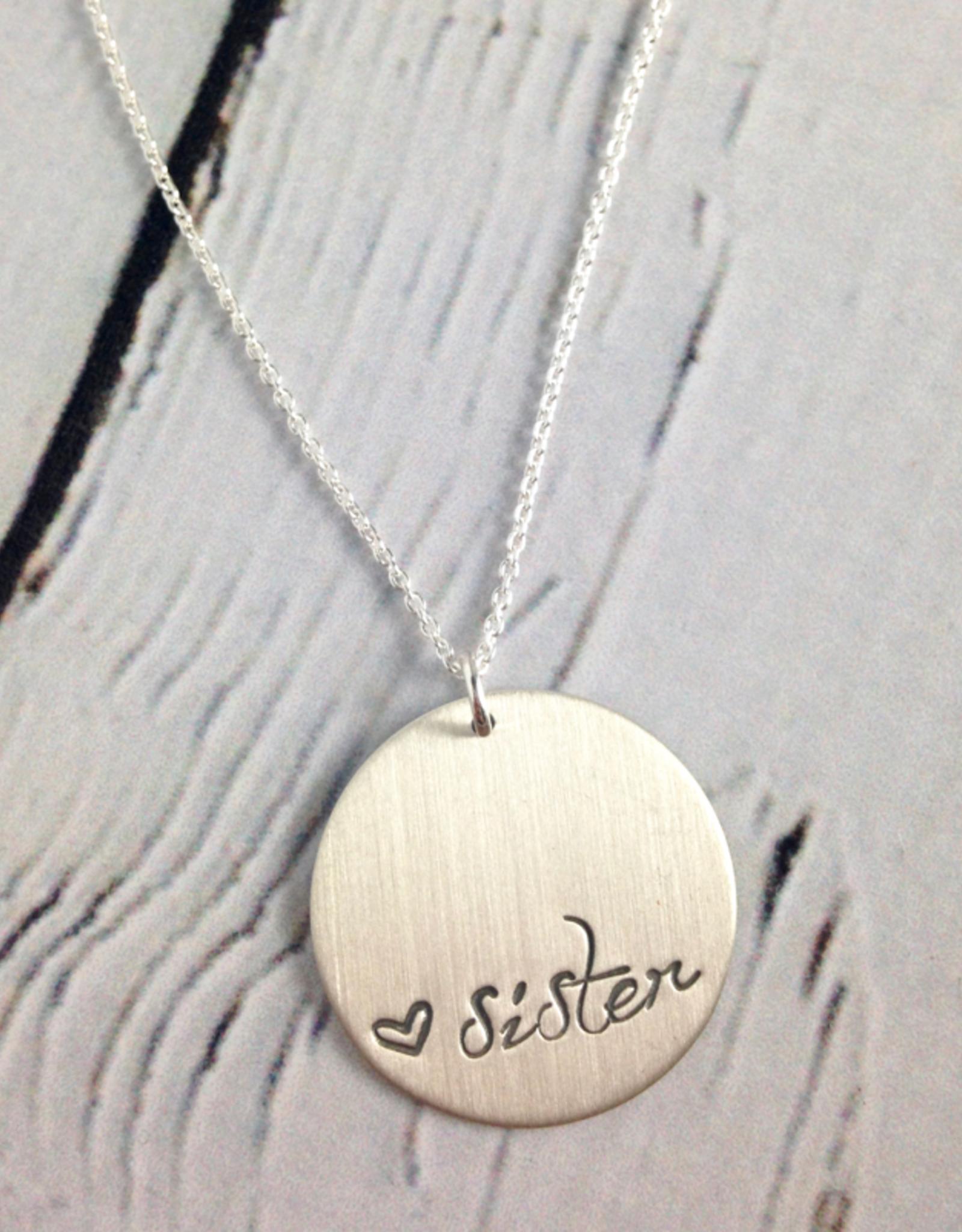 Handstamped Sister Necklace