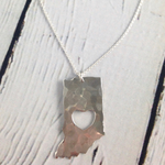 Handstamped Hammered Heart Indiana Necklace