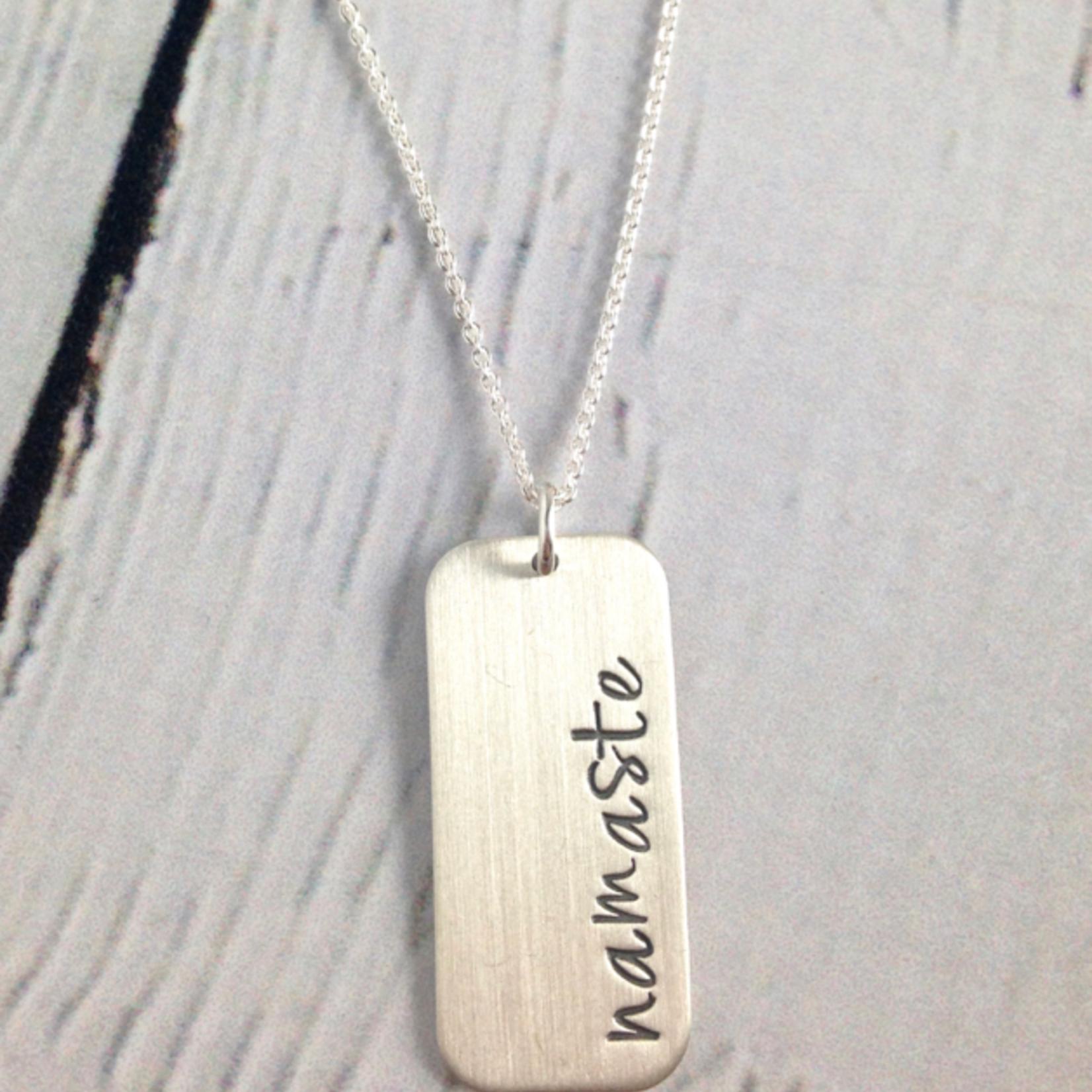 Handstamped Namaste Necklace