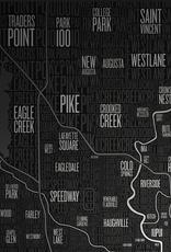 Neighborhoods of Indianapolis Poster