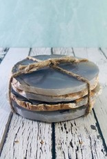 """4"""" Round Agate Coasters Set of 4"""