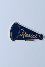 Made Au Gold Resist Megaphone Sticker