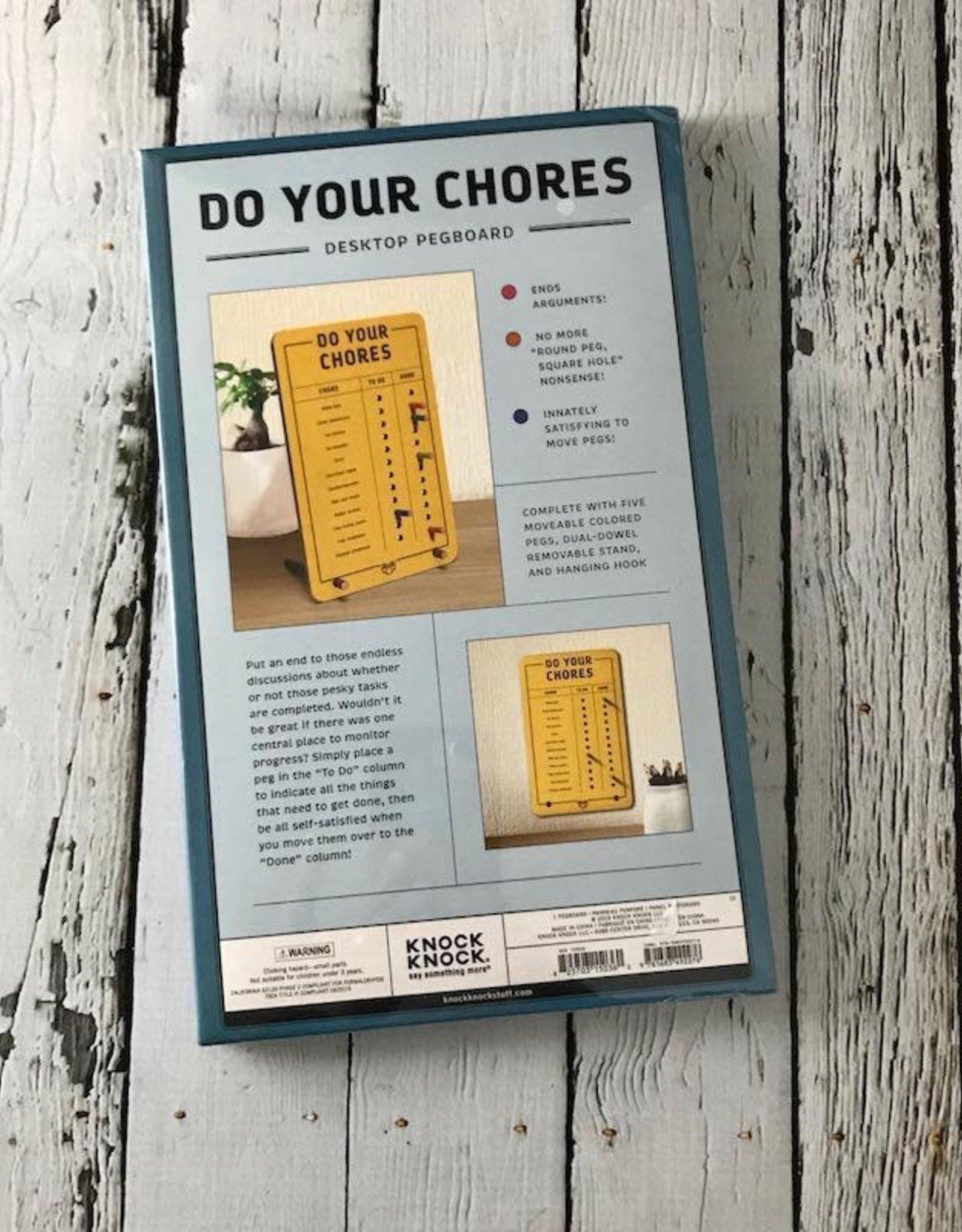 KnockKnock Do Your Chores Pegboard