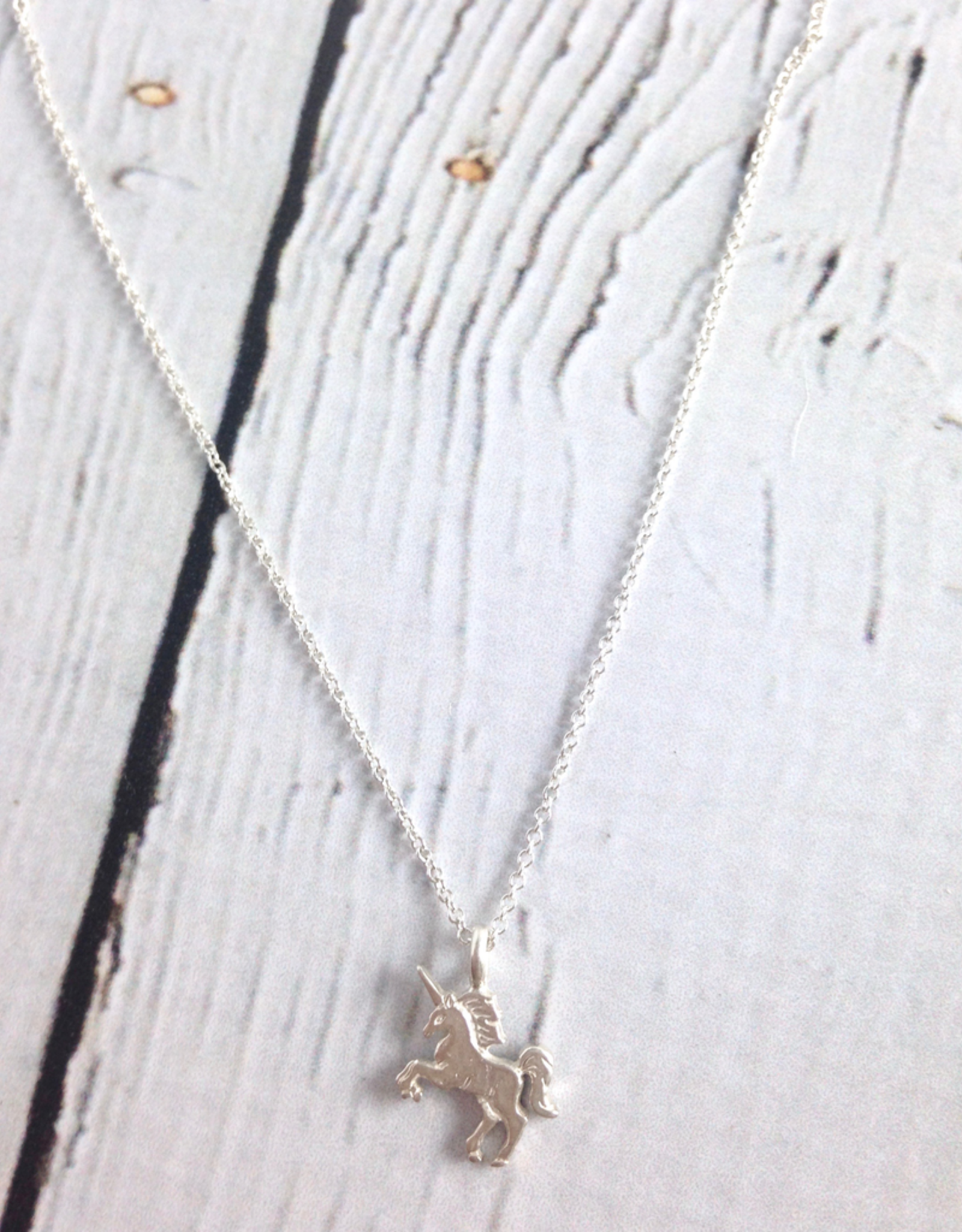Sterling Silver Life is Magical Unicorn Necklace