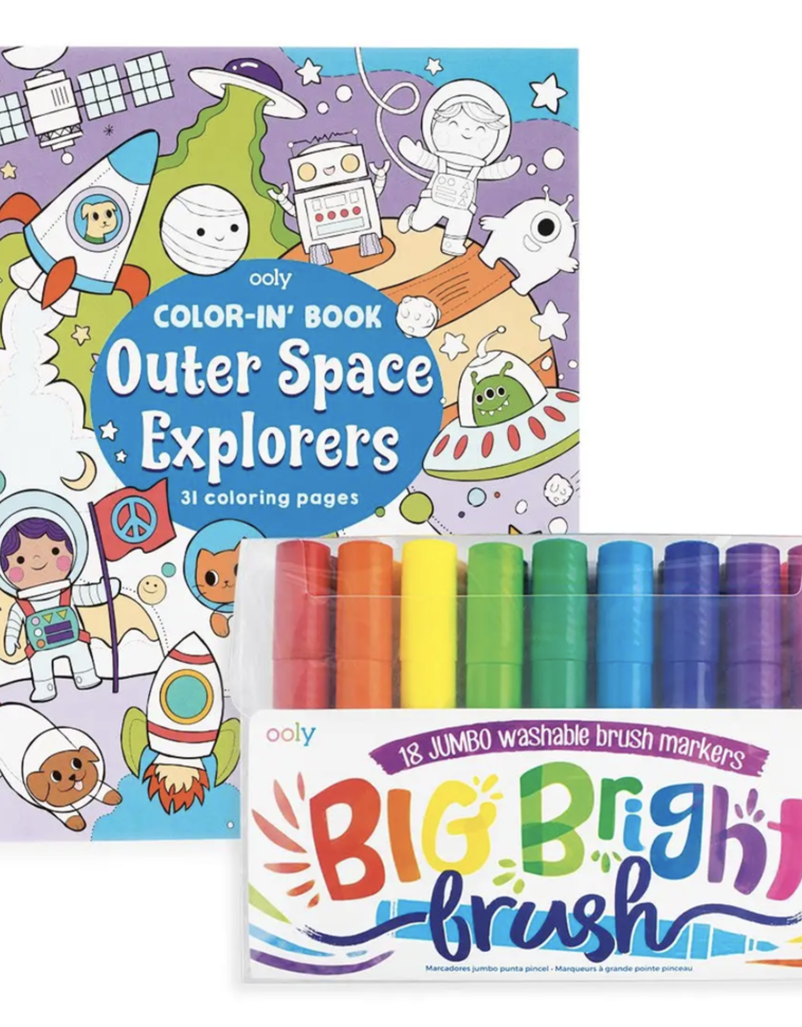 Big and Bright Outerspace Explorers Coloring Pack