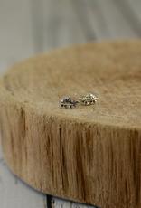 Sterling Silver Turtle Stud Earrings