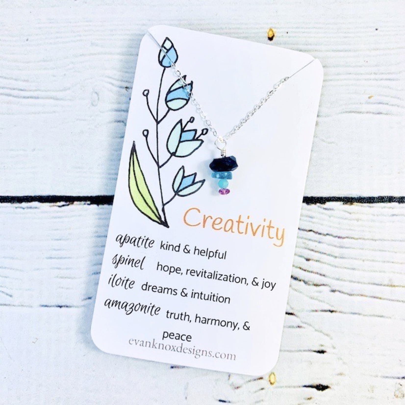 Handmade Silver Necklace with creativity gemstones