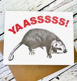 Guttersnipe Press Yas Possum Card