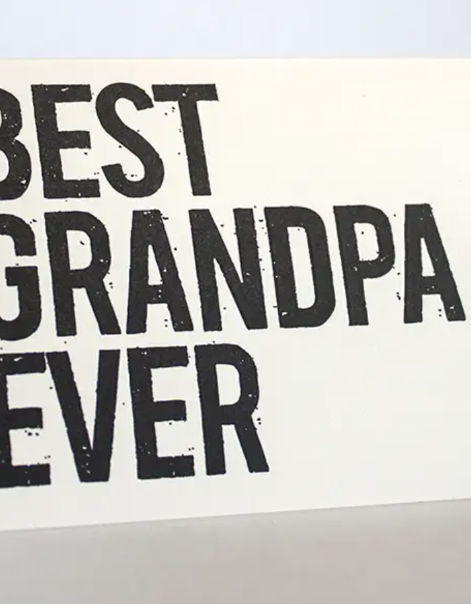 Fugu Fugu Press Best Grandpa Ever Card