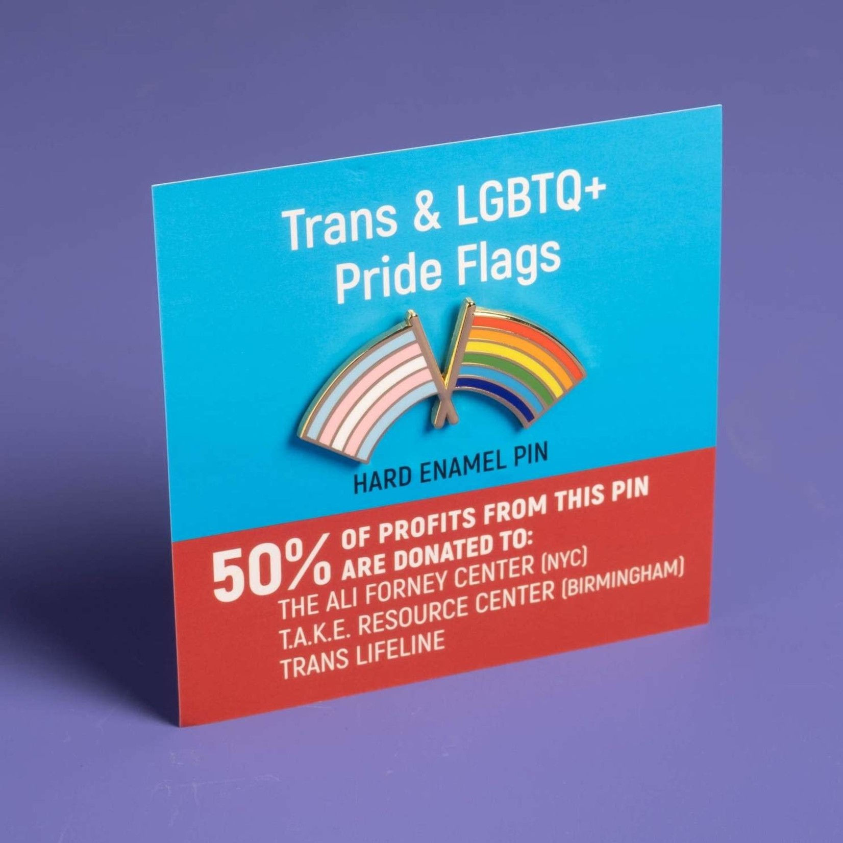 Trans and LGBTQ+ Pride Flag Combo