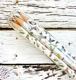 Fluttery Mix Pencil Terrarium Set of 5 Pencils