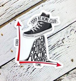 Citizen Ruth Flatten The Motherfucking Curve Sticker