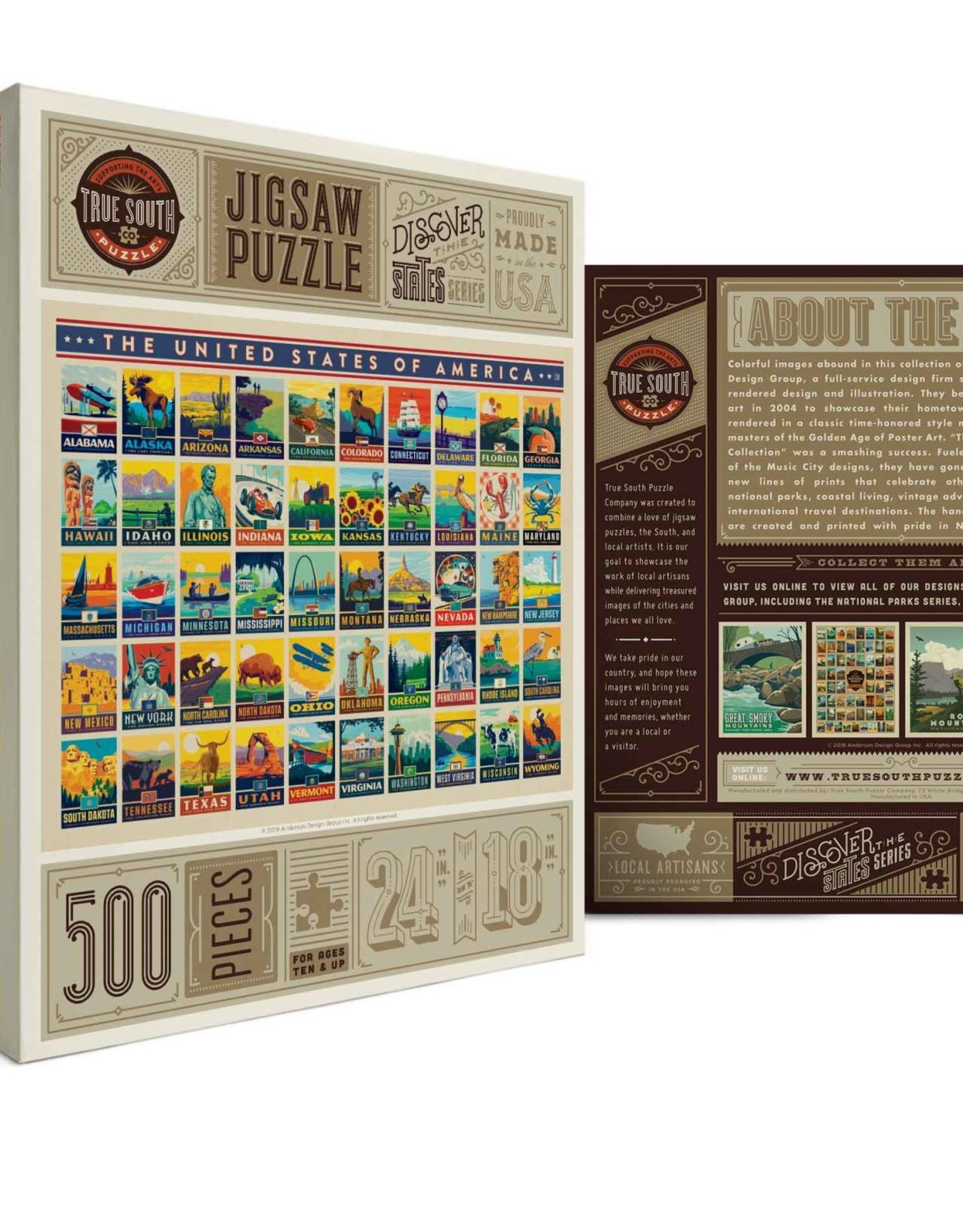 American States 500 Piece Puzzle