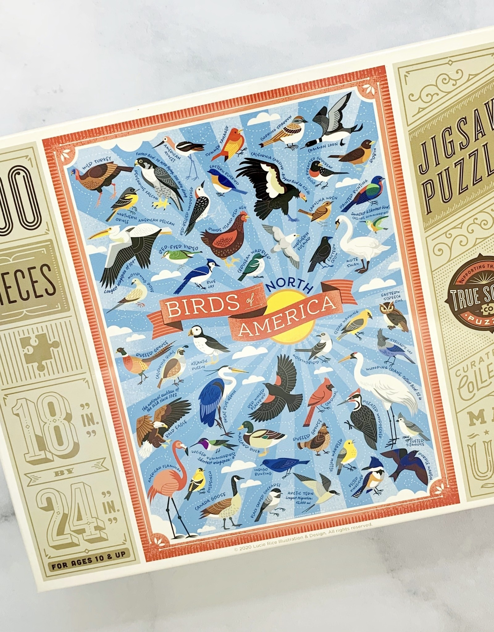 TrueSouthPuzzle New Birds of North America 500 Piece Puzzle