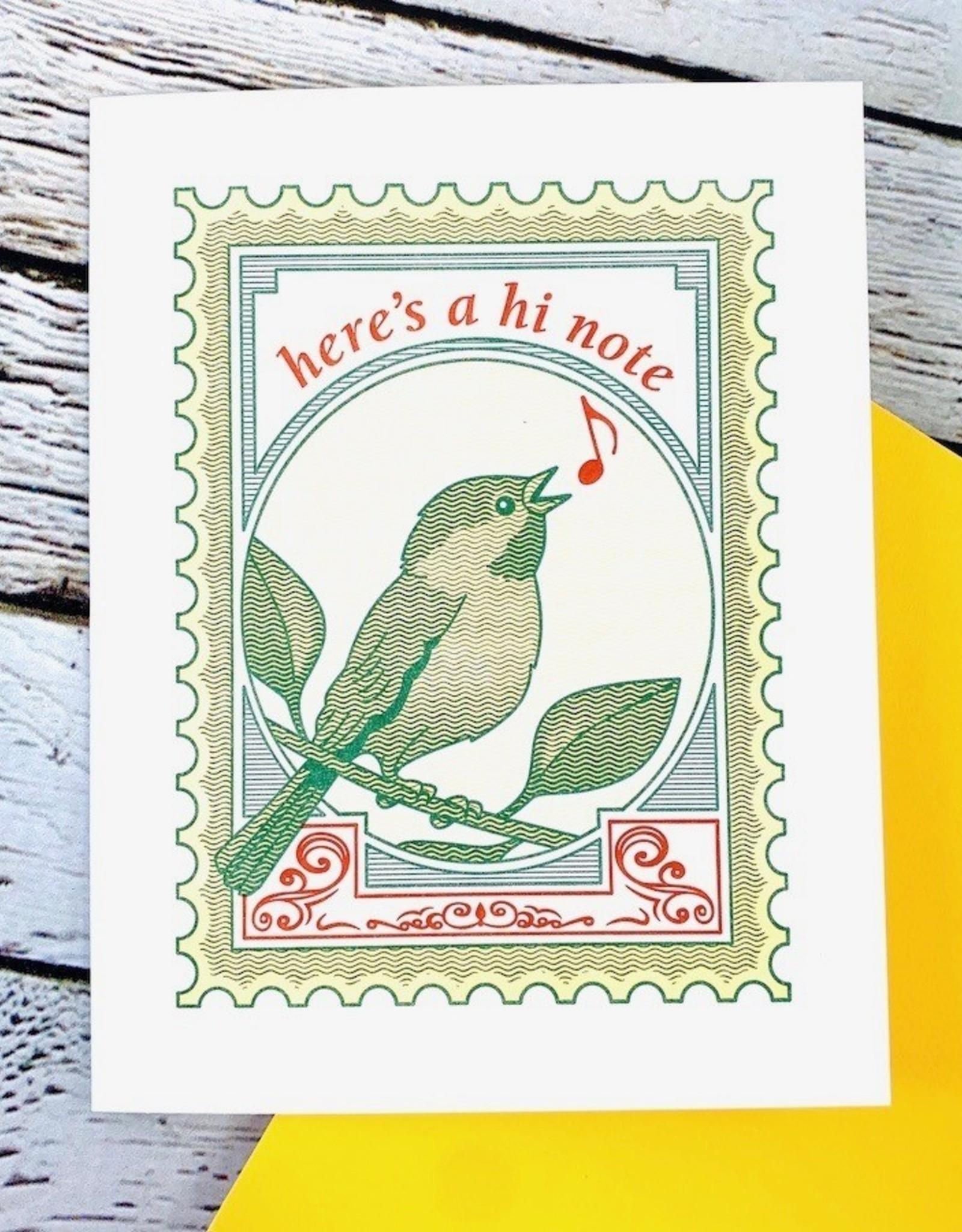 Hi Note Card
