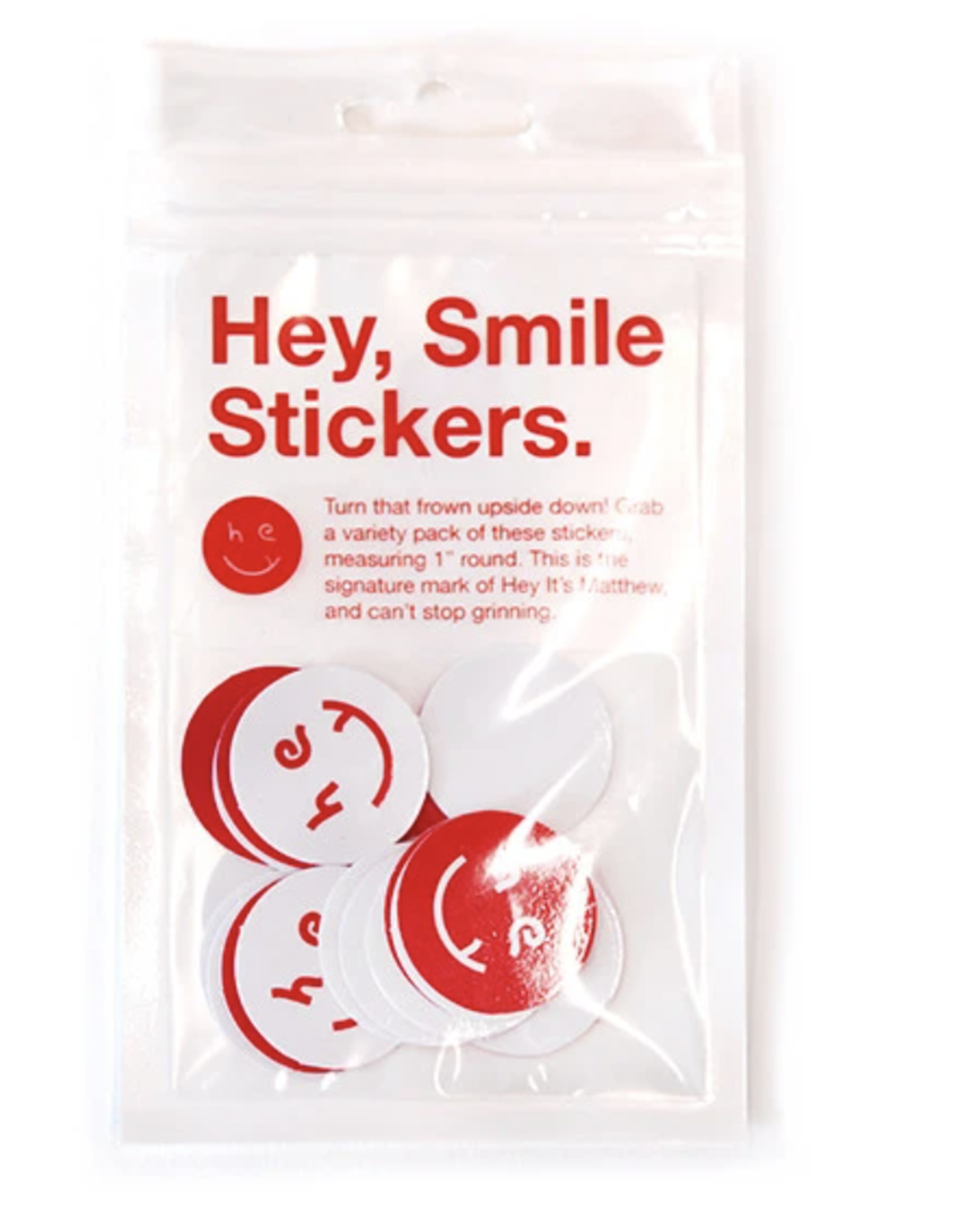You Are Beautiful Hey Smile Sticker 20 Pack