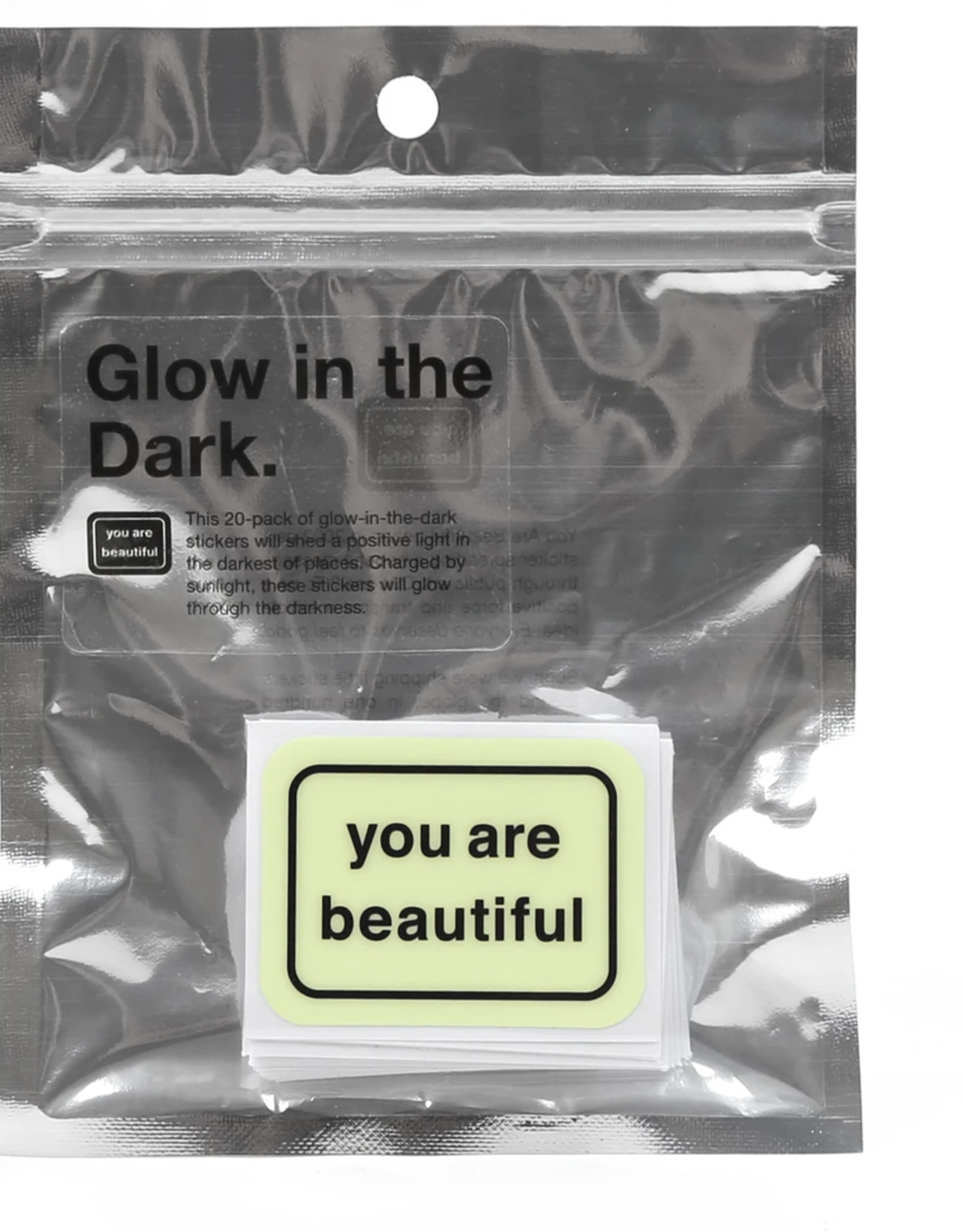 You Are Beautiful You Are Beautiful Glow In The Dark Sticker Pack