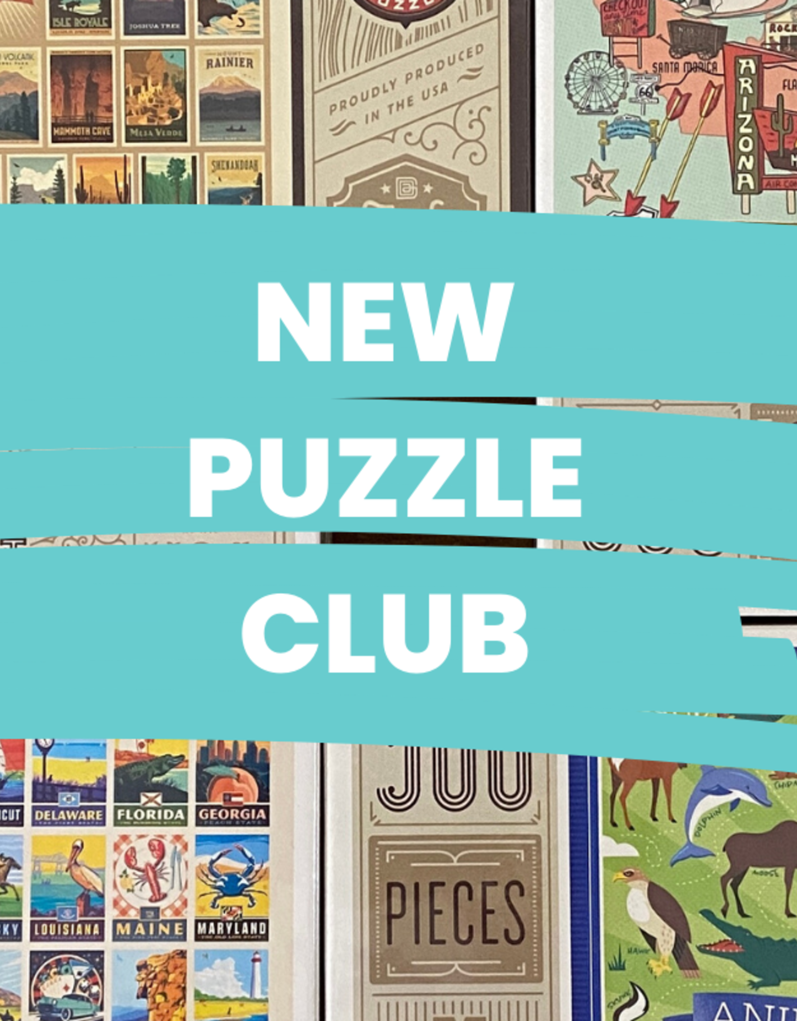 July Puzzle Club!  Sign up and receive a 500-pc puzzle a week for 4 weeks!
