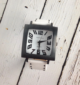 Tram Stitch Watch White
