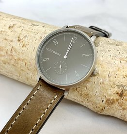 Noah Nato Watch, Grey/Vintage Taupe
