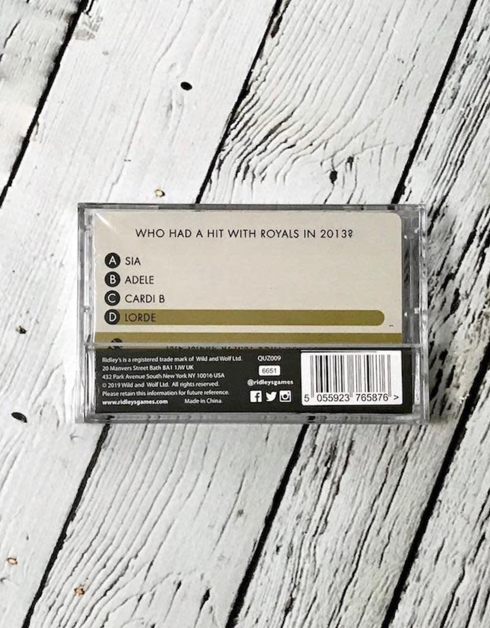 WILDANDWOLF Cassette Tape Trivia