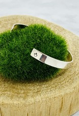 Handstamped Sterling Silver Cuff Bracelet