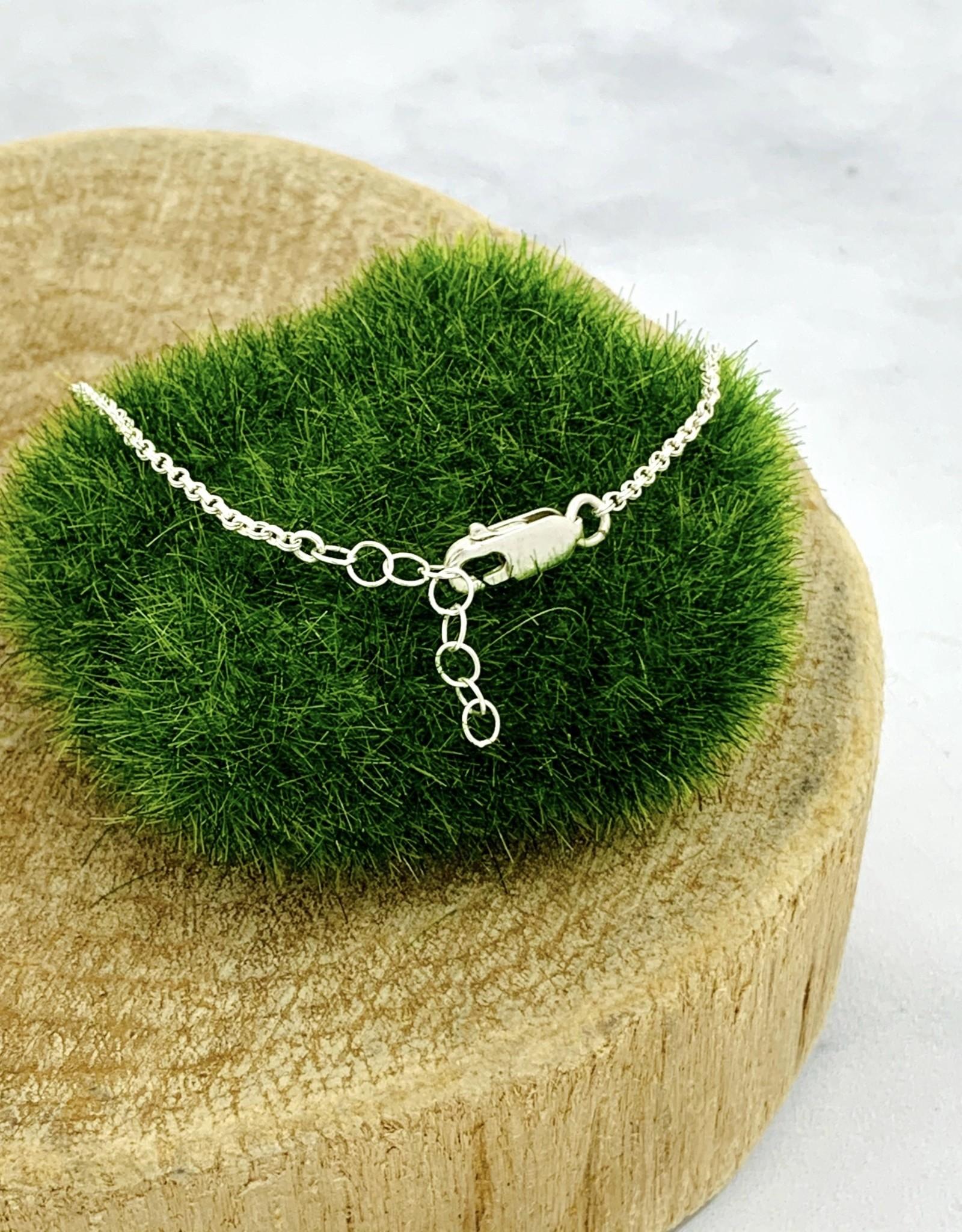 Handstamped Sterling Silver Bar and Chain Bracelet