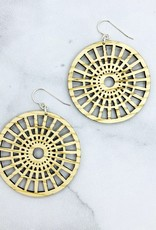 Full Circle Laser Woodcut Earrings