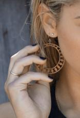 Sundrop Lasercut Wood Earrings
