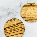 Sunset Lasercut Wood Earrings