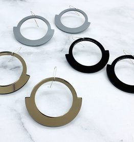 Modern Oni Earrings made from Rescued Architectural Materials