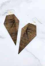 Prism Lasercut Dark Wood Earrings