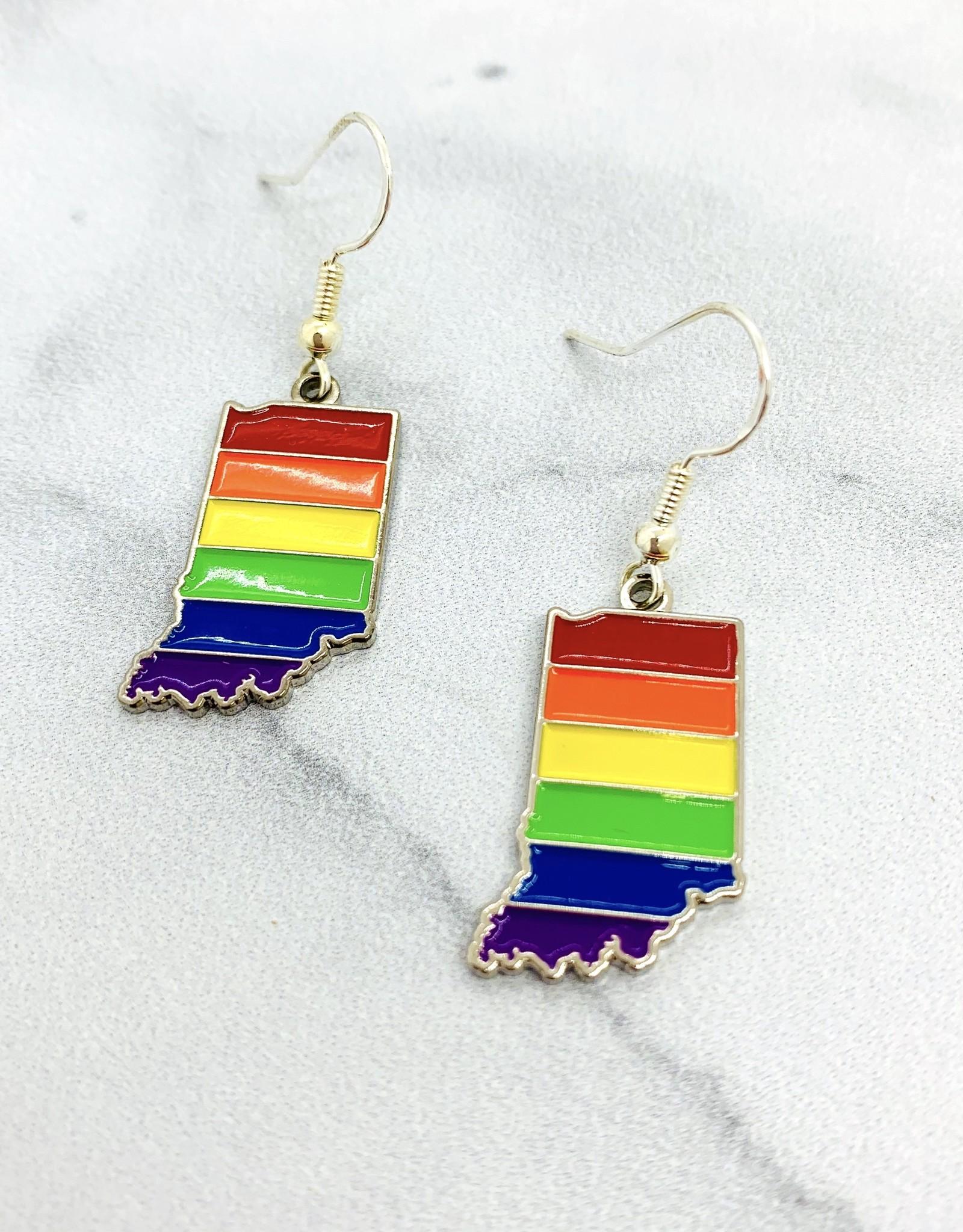 Rainbow Indiana Earrings Sterling Silver Ear Wire