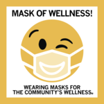 Square Mask of Wellness Sticker