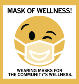 Mask of Wellness Window Cling