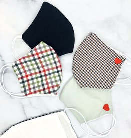 Handmade Cotton Face Mask with Heart