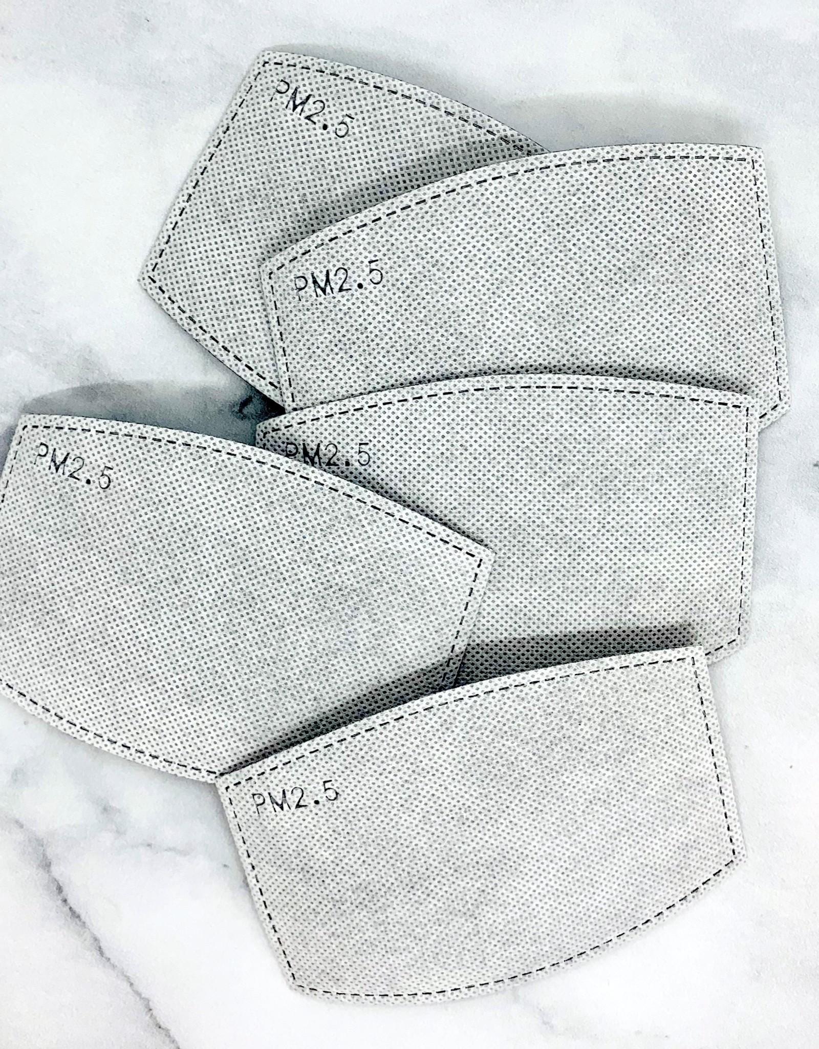 5 Pack Activated Carbon Filter For Face MasksLM