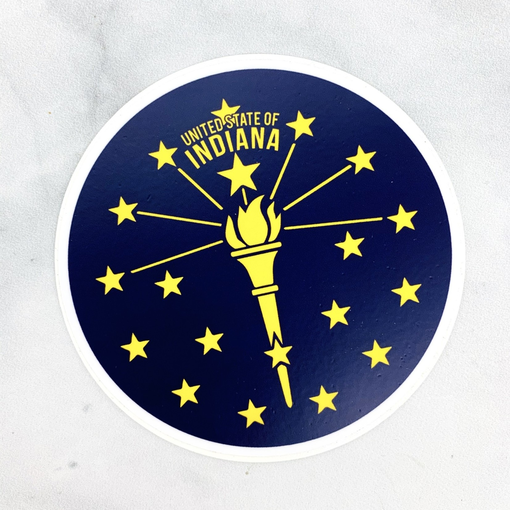 Indiana Torch and Stars Sticker