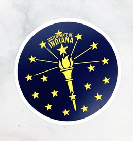 USI Indiana Torch and Stars Sticker