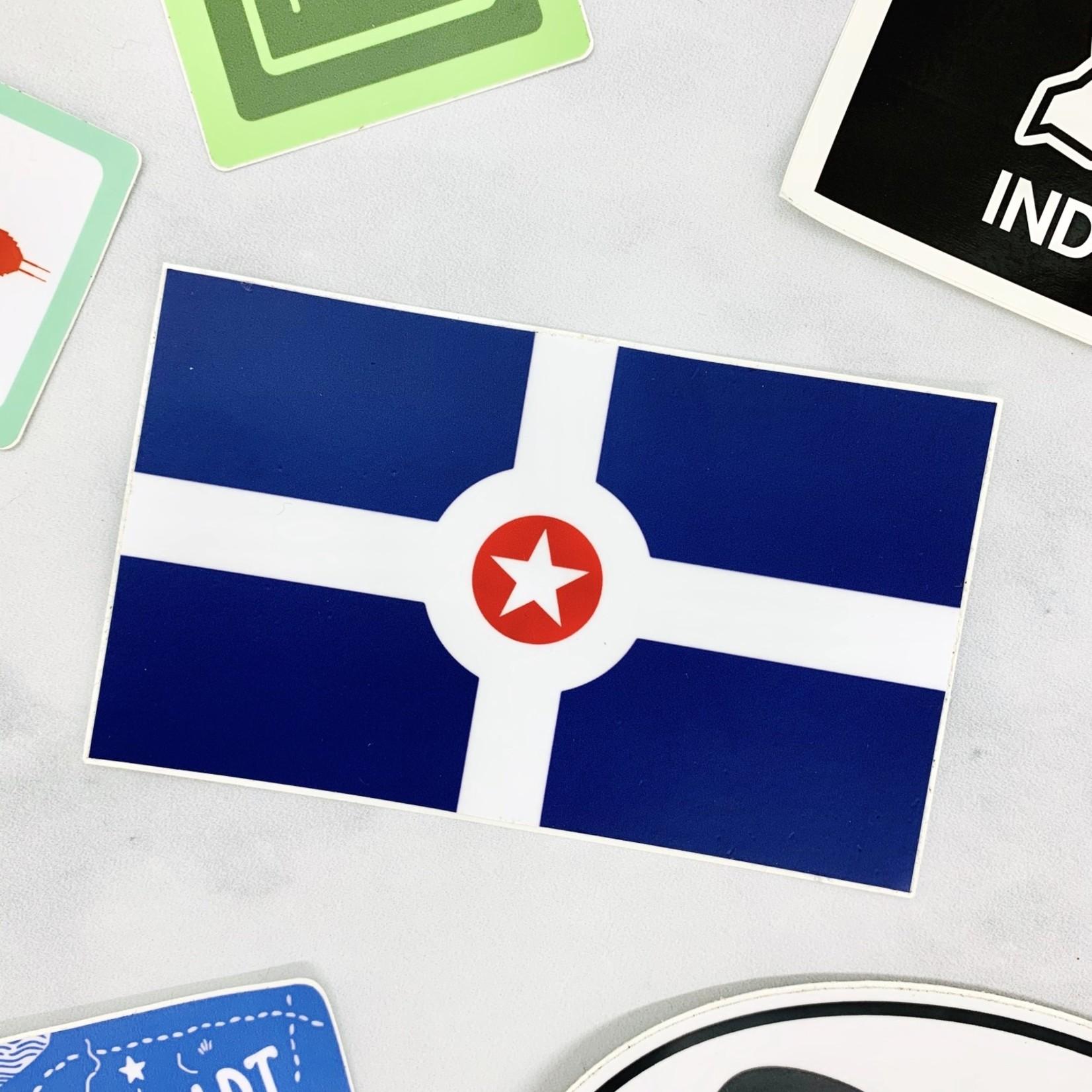Indianapolis Flag Sticker